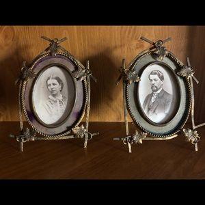 Antique Husband & Wife Portraits